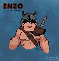 Enzo the Barbarian by JesseAcosta