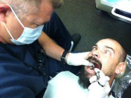 Aaron at the Dentist by myguardianangel35