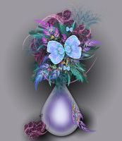 Vase of Fractals by karlajkitty
