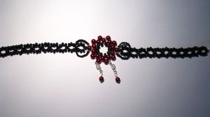necklace red'n'black by Sizhiven