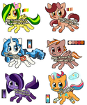 FREE!!!! pony adopts (ClOSED) by Martenmartes
