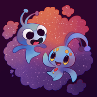 Blue Buddies by HappyCrumble