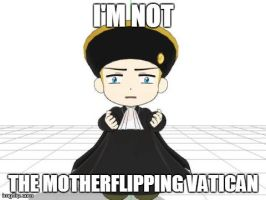 hes not the Vatican people by SilverStarlite