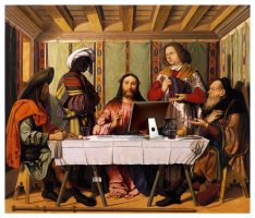 New Supper At Emmaus by drdrevil