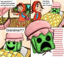 creeper grandma by chickenmobile