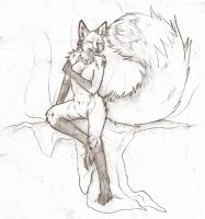 Foxes' Pose by Aquillic-Tiger