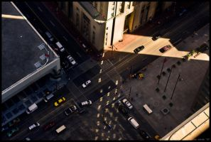 Financial Intersection by hesitation