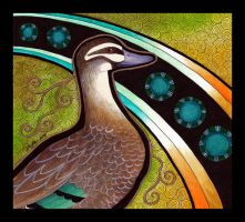 Pacific Black Duck as Totem by Ravenari