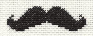 moustache cross-stitch by strang3antis0cial