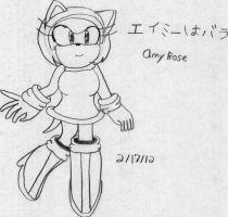 Amy Rose by shadowstarfoxDS
