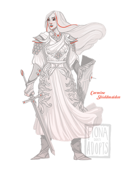 [closed] Adopt - Carmine Shieldmaiden by fionadoesadopts