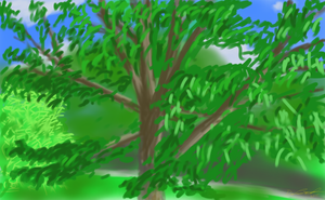 Park Painting by zephyrxero