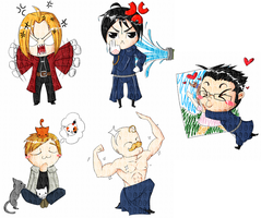 FMA chibi by OMGProductions