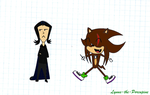 Lynus meets Severus Snape - My 1st... Chibi? by Lynus-the-Porcupine