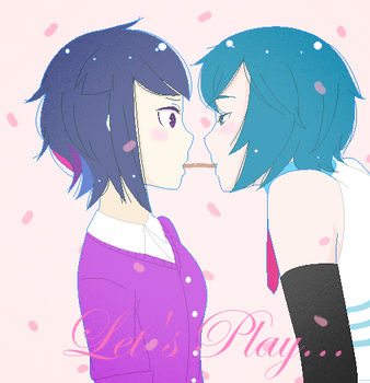 Let's Play Pocky by BiscuitLovesKitty