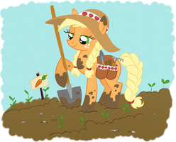 Applejack's Colorized Garden by ShelltoonTV