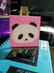 Tiny Panda on a Canvas by bunnykissd