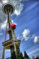 Space Needle Angry Bird. by Mackingster