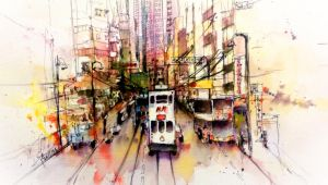 Street View in Hong Kong by young920