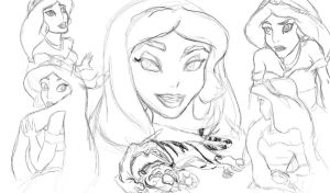 Jasmine Sketches by stargate4ever23