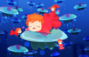 sleeping ponyo by pronouncedyou