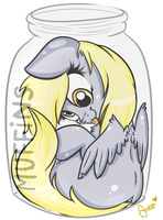 Derpy In A Jar by Amberony