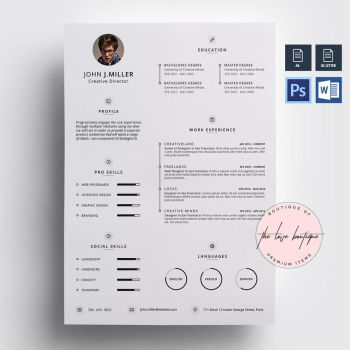 Clean Resume/CV 02 by TheLoveBoutique