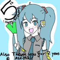 Happy Birthday and Thank you Miku! by ASK-Miku