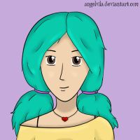 Teal Hair  by Angelvila