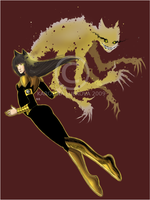 : Haruko The Sinestro : by KarolinaNoumenon