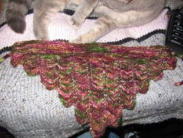 Taking Flight Kerchief by NerdyKnitterDesigns