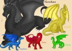 Dragons of the Inheritance Cycle by Dracophilia