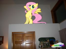 fluttershy is in my room acting adorable as ever by wolfgangthe3rd