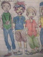 Charlie, Chris and William dressed as Digidestined by skatergirl747