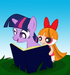 Blossom and Twilight Sparkle by vmkhappy-panda