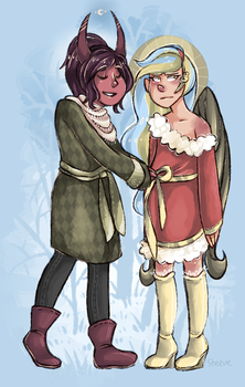 Merry Xmas from Arula and Pet by TheKnysh