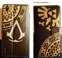my smartphone case :D by shadowhatesomochao