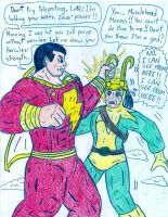 Captain Marvel vs Loki by Jose-Ramiro