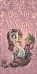 Spike and Rarity Valentine by sharkie19