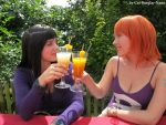 Cheers! Nico Robin and Nami by Cat-Burglar-Nami