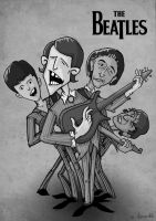 The Beatles by alhemyo
