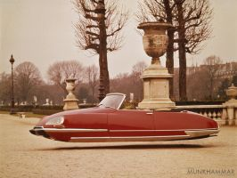Flying Citroen DS decapotable by JacobMunkhammar