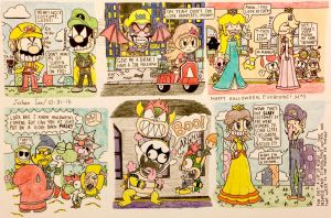 Super Mario Halloween World by Josh-S26