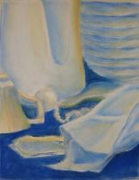 Blue and Orange Still Life WIP by silverz777