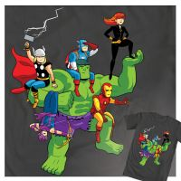 Avengers Assembled T-Shirt by dryponder