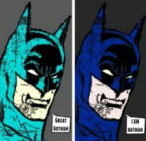 Two panel Batman comic print pop art by TheGreatDevin