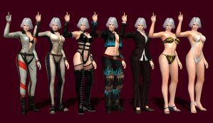 DOA 5 - Christie Render Pose [7 Outfits] by IshikaHiruma