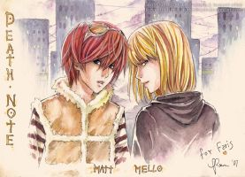 Art Trade - DN_Matt and Mello by Akimoto-san