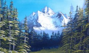Mountain Pines by molecularart