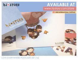 Love Everywhere Postcard Set by hjstory